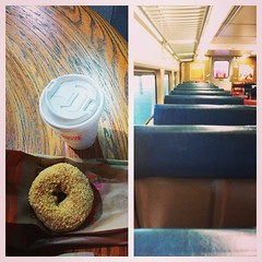 Another train, another breakfast of champions. I like this city's dedication to donuts.