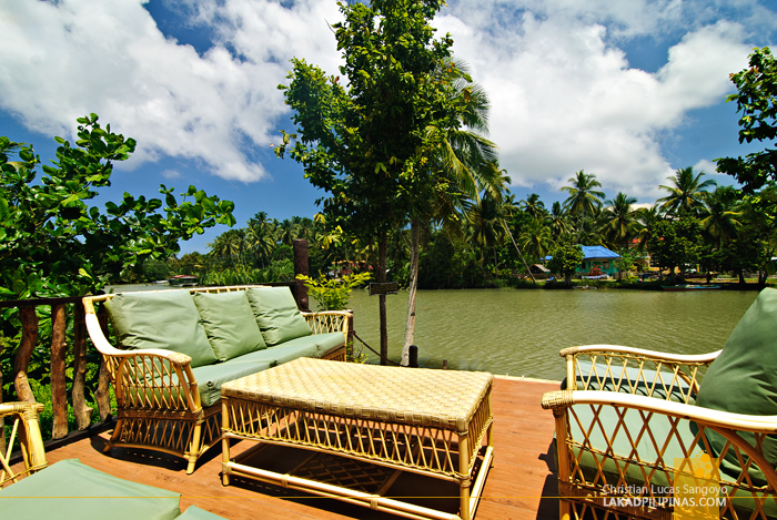 A Lounge Overlooking the River at the Loboc River Resort in Bohol