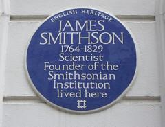 Photo of James Smithson blue plaque