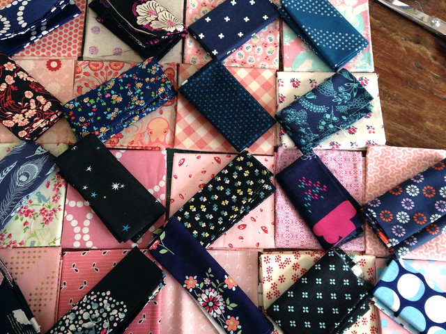Orange Peel Quilt-Along: Fabric Layout Test