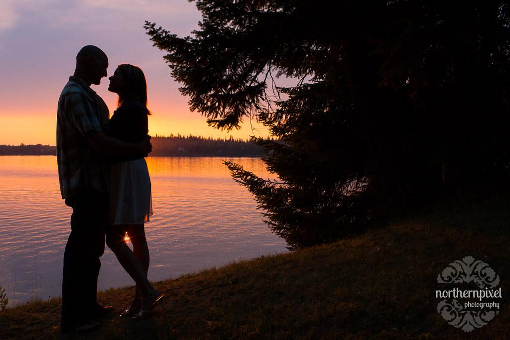 Sunset Silhouette - Ness Lake Engagement