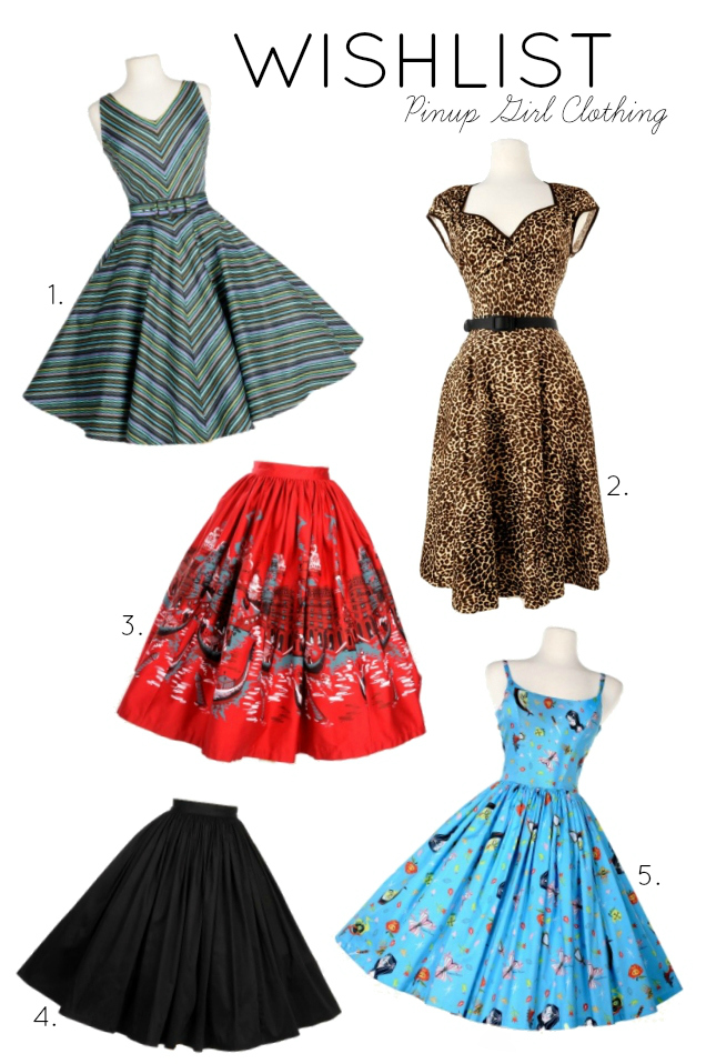Pinup Girl Clothing Wishlist