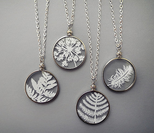 Cut Paper Nature Pendants