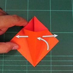 วิธีพับกระดาษเป็นช่อดอกไม้ติดอกเสื้อ (Origami Wedding Chest Flower) 008