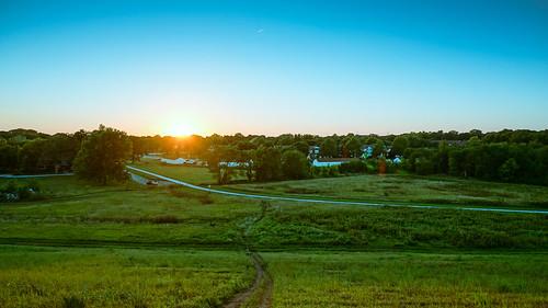 road sunset lake grass landscape nebraska unitedstates dirt lincoln holmes