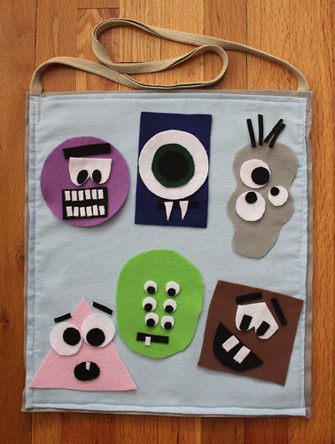 2014.08_felt board bag monsters