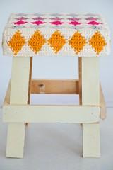 wood & wool stool cristina