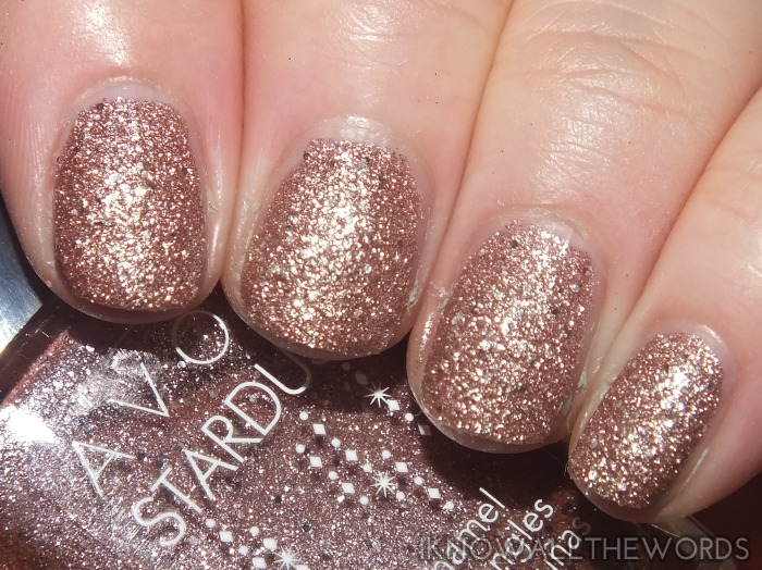 avon stardust nail enamel- crystalized pink(5)