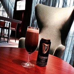 A Guinness at Privé Lounge in Hyatt Capital Gate #InAbuDhabi.