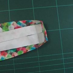 วิธีพับกล่องของขวัญแบบมีฝาปิด (Origami Present Box With Lid) 029