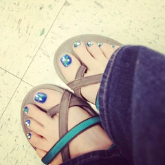 Game day toes! Go Mavs! #bandmom