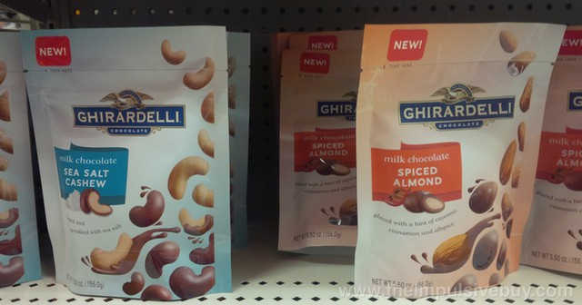 Ghirardelli Milk Chocolate Sea Salt Cashew and Milk Chocolate Spiced Almond
