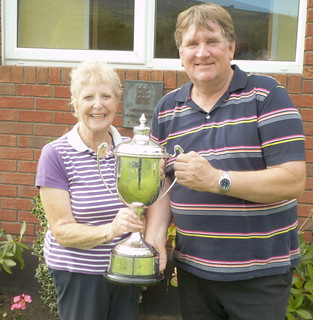 Stella Sheridan and Frank Connolly, Leinster Mixed Foursomes Winners 2014
