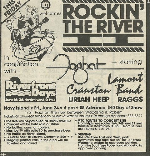 06/24/83 Rockin' The River II @ Navy Island, St. Paul, MN