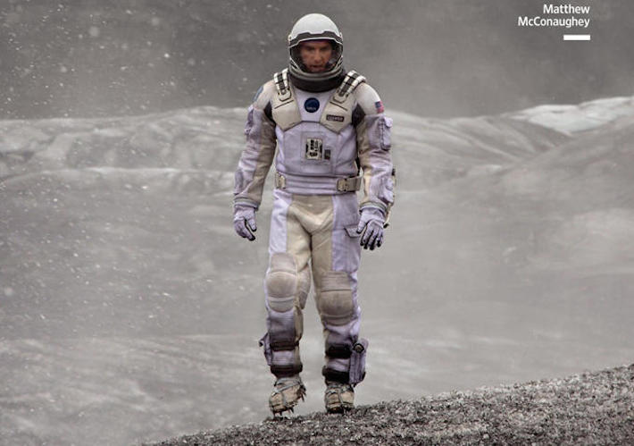 McConaughey Suits Up For Ice Cold INTERSTELLAR Banner