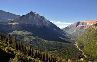 Mount Cannon and a Valley Below (Glacier National Park)