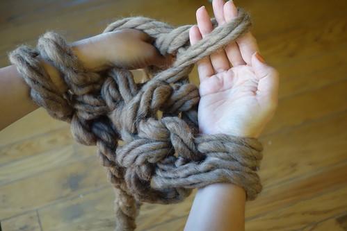 Arm Knitting Left Arm Step 2