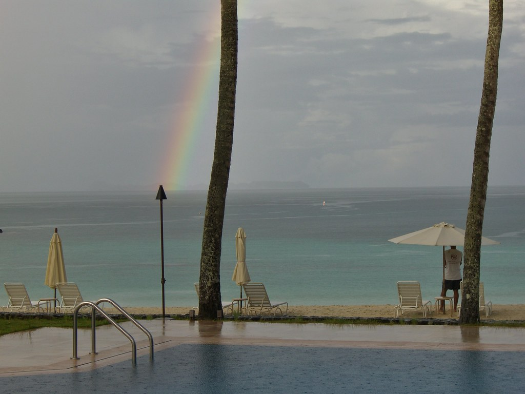 Palau rainbow and rains