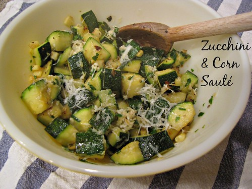 Baked Cod with Zucchini & Corn Sauté - Idiot's Kitchen