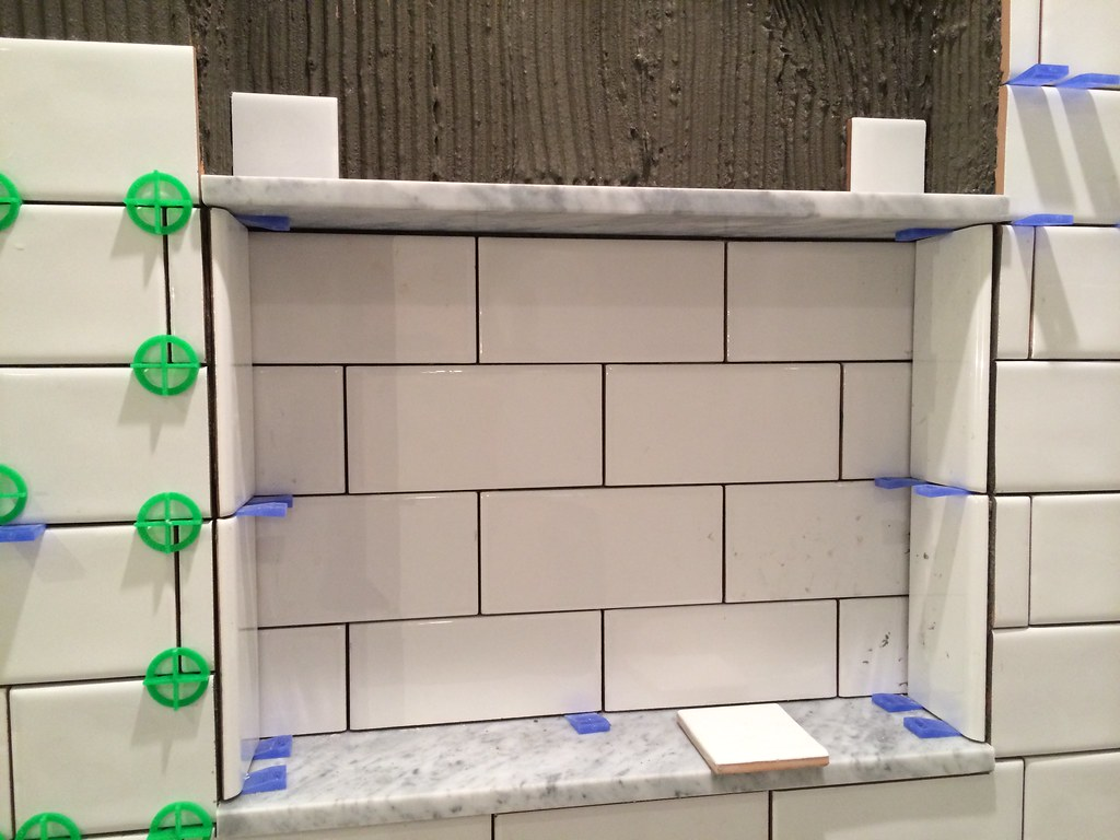 The subway tiling train is chugging along old town home there are a few areas im not entirely happy with on the niche and i need to figure out if it will look better once grouted or if i should take out dailygadgetfo Choice Image