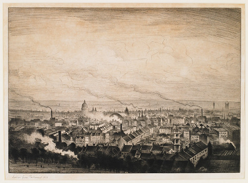 CRW-Nevinson,-London-from-Parliament-Hill,-c.1923,-drypoint,--25.3-x-35-cm.-Courtesy-of-Osborne-Samuel