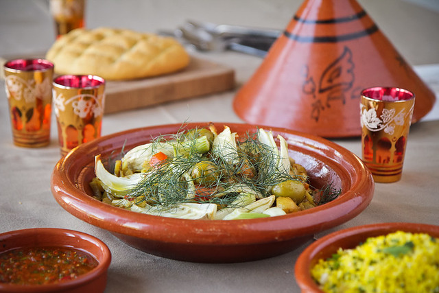 Fennel, New Potato and Green Olive Tagine