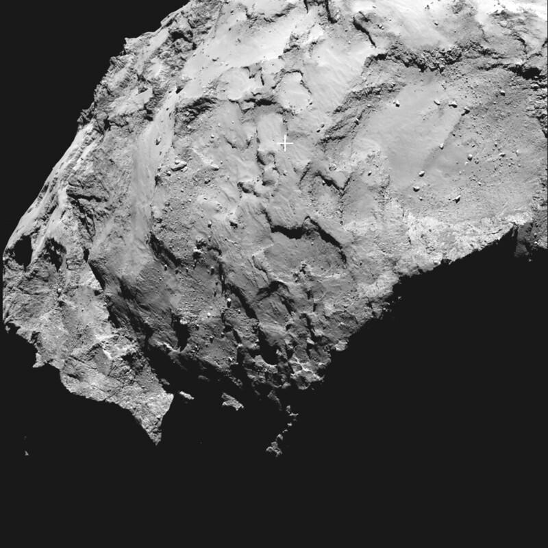 Philae's primary landing site