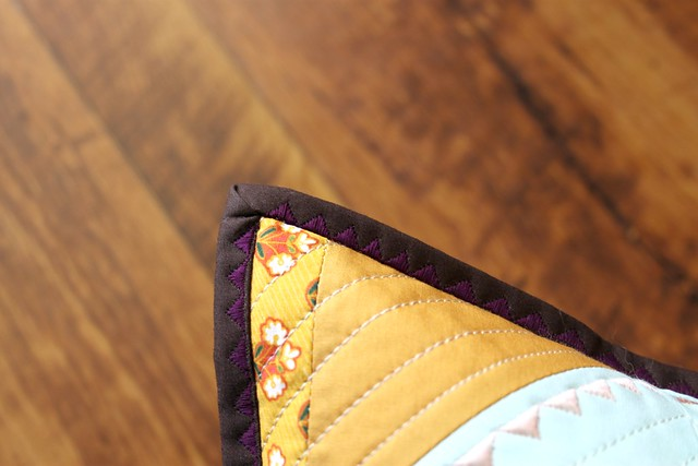 satin stitch binding detail