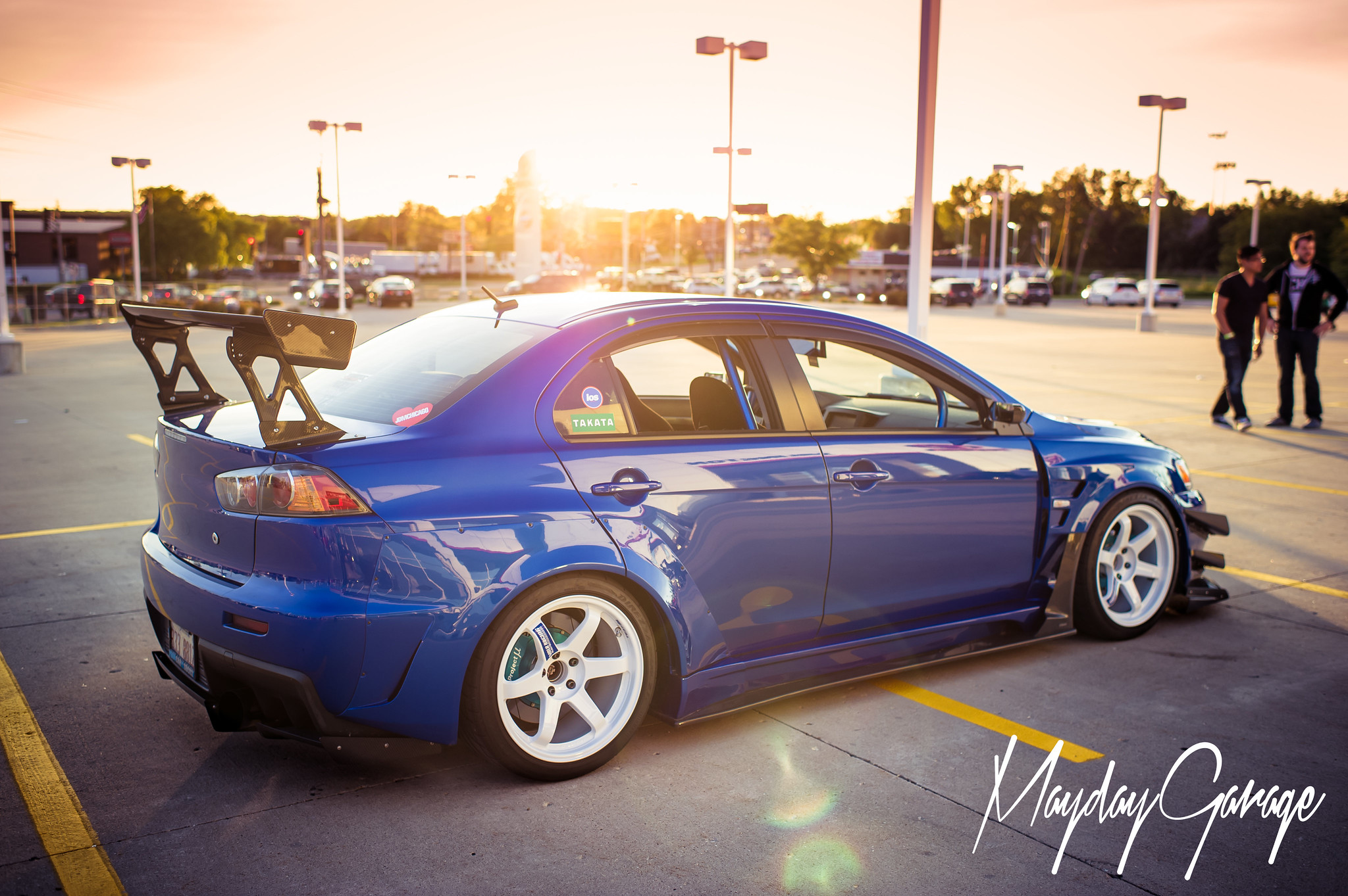 Michael Braeuner's Varis widebody, super duper JDM Evo X stunning the crowds at OK CHI