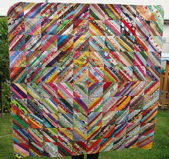 scrappy string quilt top