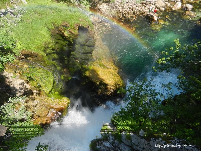 Радуга от водопада Шум
