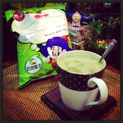 Matcha green tea, kuai kuai coconuts cream flavor