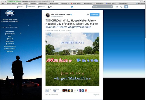 White House Tweet on Maker Faire