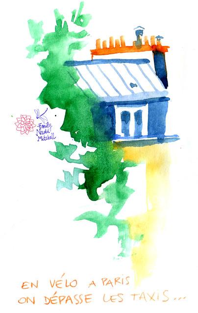 Paris - Les toits à l'aquarelle