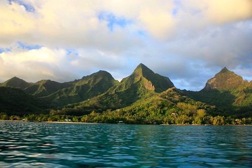 Moorea from sea