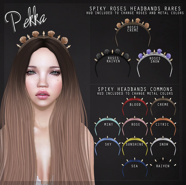 pekka spikey rose headbands