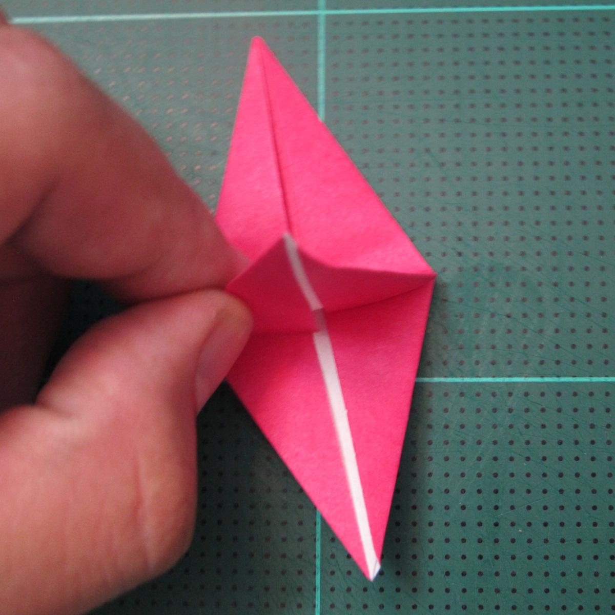 การพับกระดาษแบบโมดูล่าเป็นดาวสปาราซิส (Modular Origami Sparaxis Star) 009