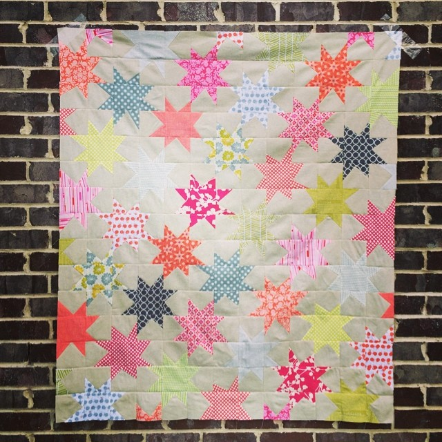 Yay! Wonky star top done!!!!  This will be for my @etsy shop #quilting #etsy #stars