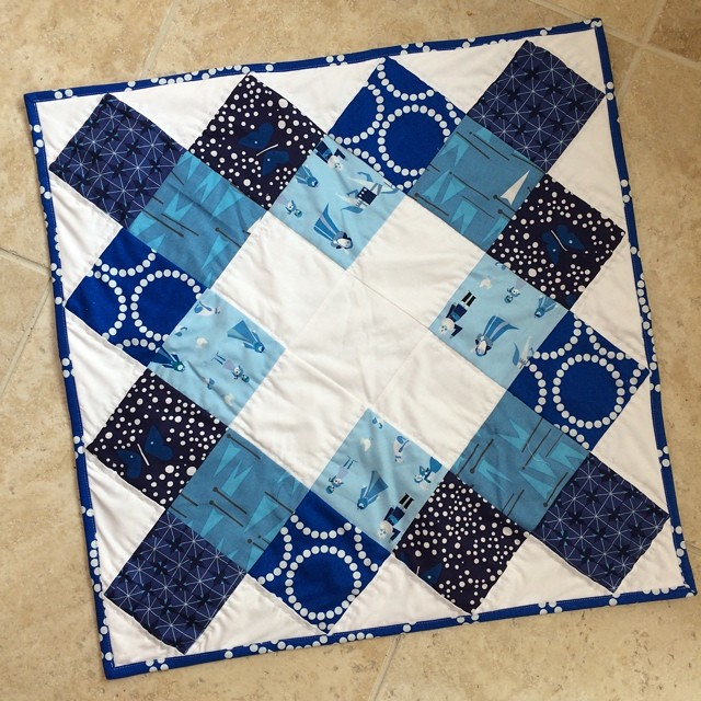 Forgot to share my finished #schnitzelandboominiquiltswap yesterday. I sent it yesterday partner. Hope you like it! #makeaquiltmakeafriend