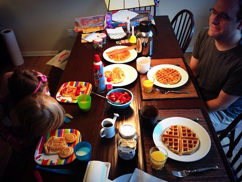 Father's day waffle breakfast!