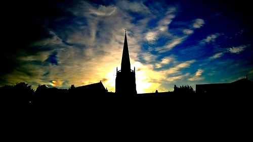greatbritain sunset england sky silhouette clouds oxfordshire abingdon sthelenschurch nokialumia920