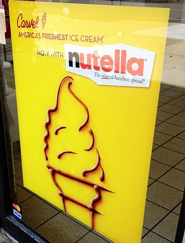 Carvel and their latest flavor- Nutella.
