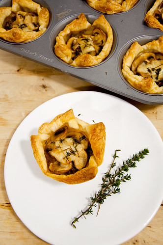 Mushroom, Onion and Gruyere Cheese Tart