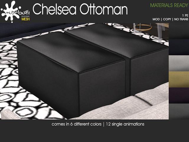 mudhoney chelsea ottoman