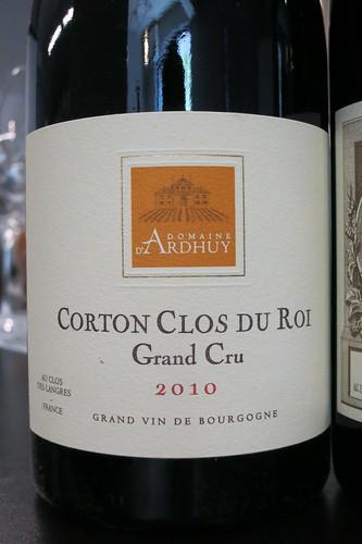 """Corton """"Clos du Roi"""" 2010, d'Ardhuy"""
