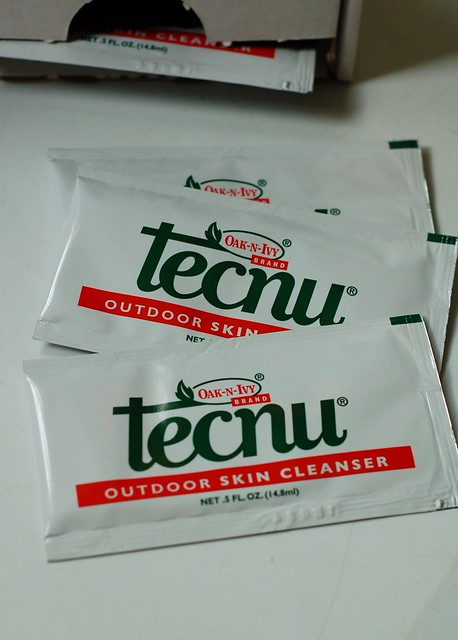Tecnu packets by Eve Fox, The Garden of Eating, copyright 2014