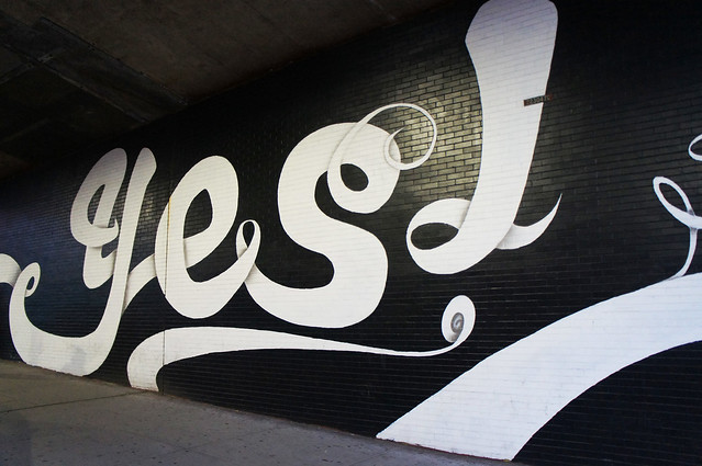 yes mural brooklyn