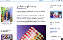 win an ipad cover on my blog
