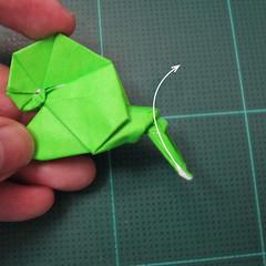 วิธีพับกระดาษเป็นรูปหอยทาก (origami Snail) 029