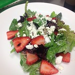 Strawberry, Goat Cheese, Baby Spinach, & Poppy Seed Dressing Salad